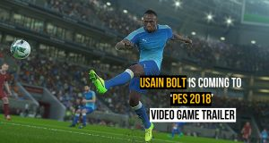 Usain Bolt will join Messi and Neymar in 'PES 2018' Video Game