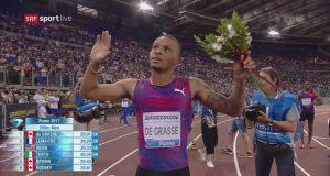 Andre De Grasse wins Men's 200m : Rome Diamond League
