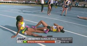 GOLD: Britany Anderson runs the fastest 100m Hurdles in World U18 Championships