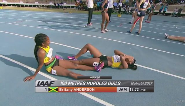 GOLD: Britany Anderson runs the fastest 100m Hurdles in World U18 Championships