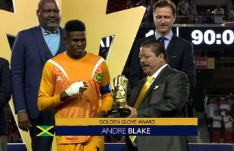 Jamaica's Goalkeeper Andre Blake Awarded the Golden Glove at Gold Cup Final