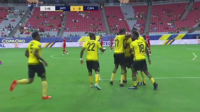 GOALLLL: Jamaica 1 - 0 Canada in the 6th minute