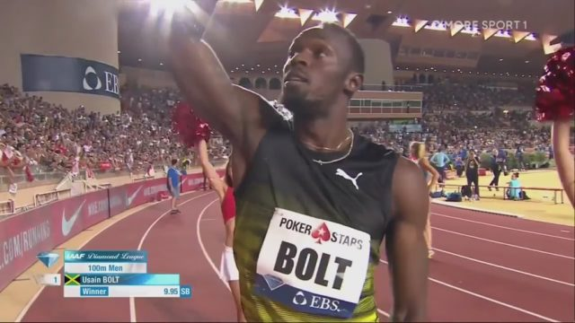 Usain Bolt wins his final 100m race [9.95] before World Championships
