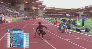 Janieve Russell 3rd in 400m Hurdles at Monaco Diamond League