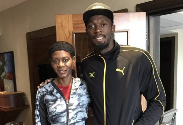 Usain Bolt meets Merlene Ottey in London