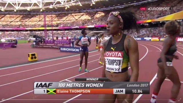 Elaine Thompson WINS 100m semifinal 2: World Championships
