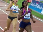 Jamaica WINS Women's Diamond League 4x100m Relay Trophy