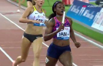 Jamaica WINS Women's Diamond League 4x100m Relay Trophy