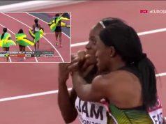 Jamaica WINS Bronze in Women's 4x100m at London World Championships