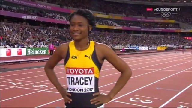 Ristananna Tracey WINS 400m hurdles Heat 3: London World Championships