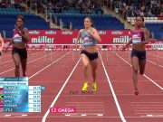 Janieve Russell 3rd in Women's 400m hurdles at Birmingham Diamond League