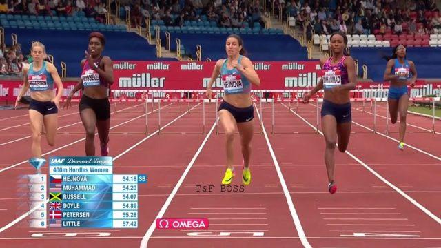 Janieve Russell 3rd in Women's 400m hurdles at Birmingham Diamond League