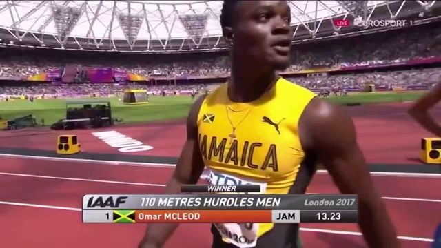Omar McLeod Wins Heat 1: Men's 110m Hurdles World Championships