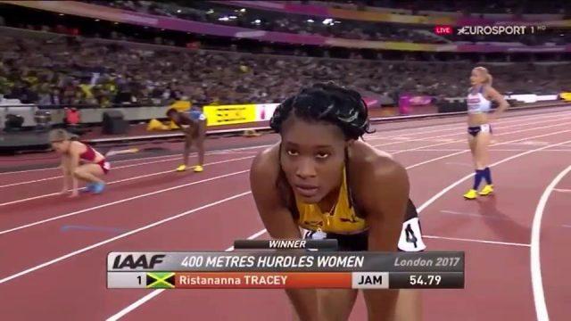 Ristananna Tracey WINS 400m Hurdles Semi 2: London World Championships