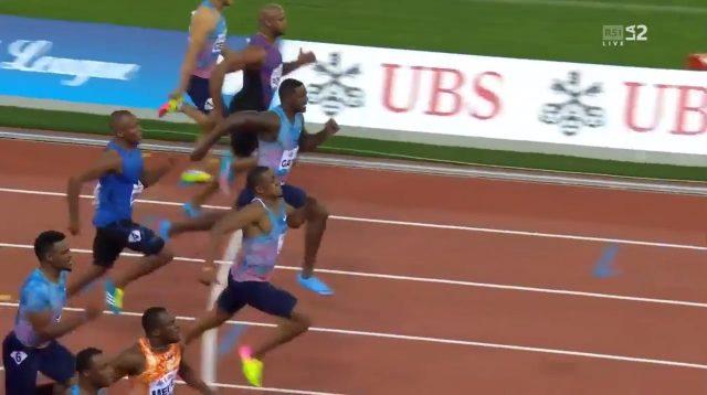 Justin Gatlin beaten by 3 men in 100m at Zurich Diamond League