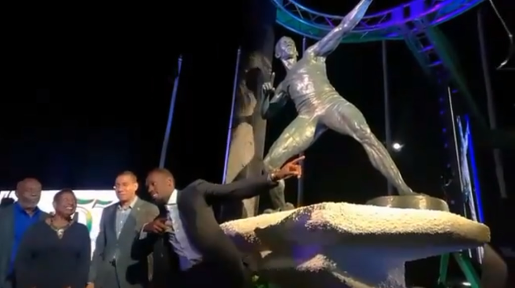 Usain Bolt Statue Unveiled In Kingston I AM A JAMAICAN