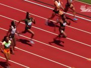 Elaine Thompson finishes 3rd in 100m at Eugene Diamond League 2018