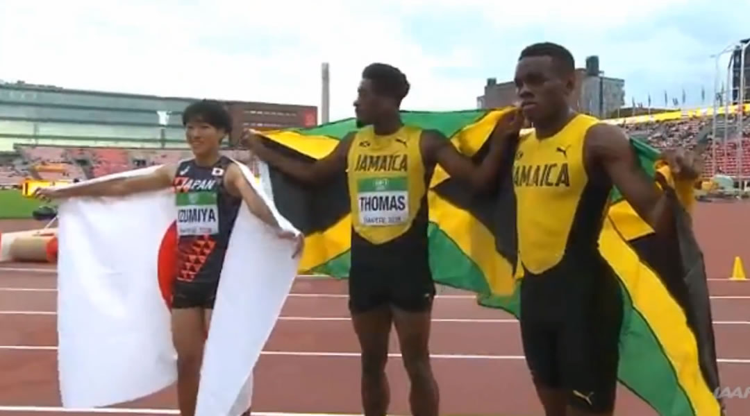 Jamaicans Damion Thomas, Orlando Bennett win 110m Hurdles Gold and Silver at IAAF World U20 Championships
