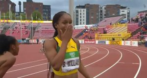 Watch 16-yr-old Briana Williams win Women's 100m GOLD at World Under-20 Championship Tampere 2018
