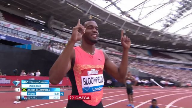 Akeem Bloomfield ?? smashes his Personal best to London Diamond League 200m