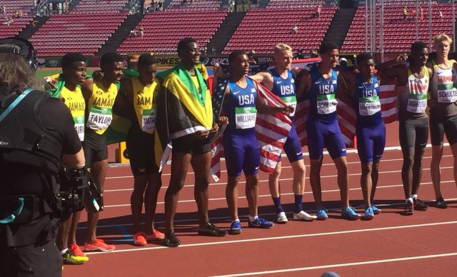 Jamaica's 4X100m Relay Team wins Silver, Smashes the ?? National record at World Under-20 Championships