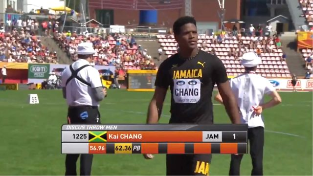 Kai Chang Wins World Under-20 Championships Discus Throw Gold for Jamaica