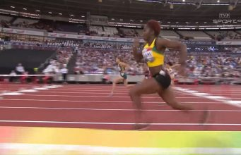 Jeanine Williams wins 100m hurdles Athletics World Cup Silver