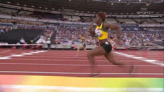 Jeanine Williams wins 100m hurdles Athletics World Cup Silver