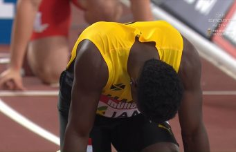 Jamaica's Men's 4x100m Relay Team wins Athletics World Cup Silver Medal