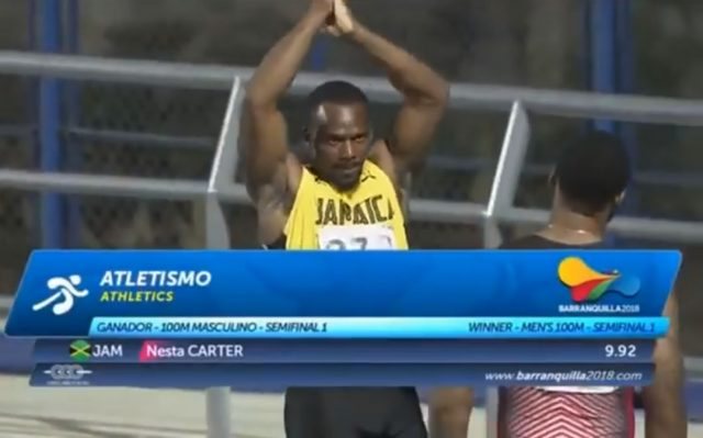 Nesta Carter wins, qualifies for Men's 100m final at Central American and Caribbean Games