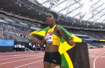 Janieve Russel wins 400m Hurdles Gold at first-ever Athletics World Cup in London