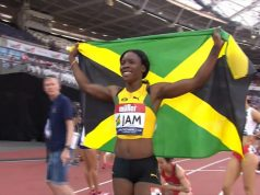 Shericka Jackson wins 200m Athletics World Cup Gold