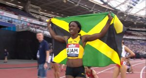 Shericka Jackson wins 200m Athletics World Cup Gold
