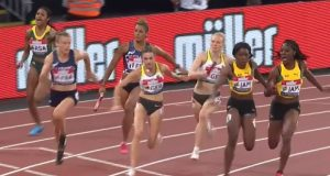 Shelly-Ann Fraser-Pryce helped Jamaica's 4x100m Relay Team to win silver
