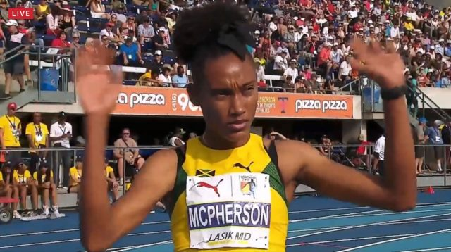 Stephanie Ann McPherson wins 400m GOLD at NACAC Championships - Toronto