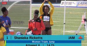 Shanieka Ricketts breaks Triple Jump record, wins gold at NACAC Championships – Toronto