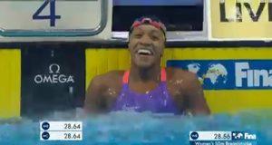 Alia Atkinson sets new 50m Breastroke World Record at FINA Swimming World Cup 2018