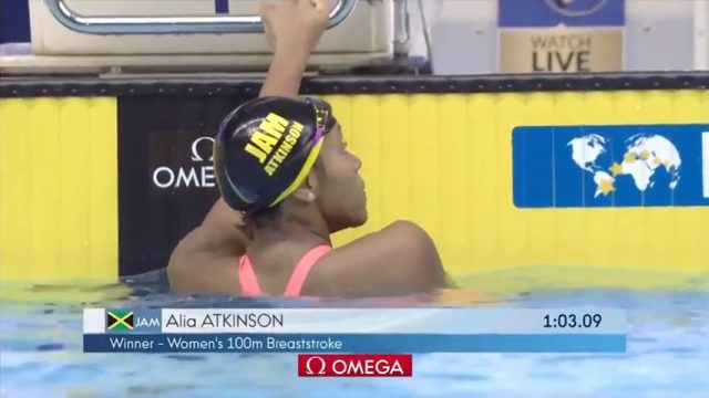 Watch: Alia Atkinson wins 50m, 100m Breaststroke GOLD at 2018 Swimming World Cup TOKYO