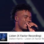 Dalton Harris is the only X Factor Uk Artiste on the Uk iTunes 100 chart, sits at 15