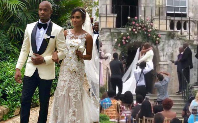 Asafa Powell marries longtime girlfriend, model Alyshia Miller