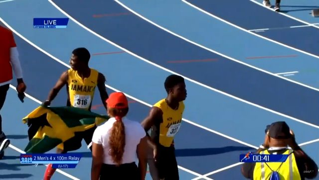 Jamaica wins U-17 Boys' 4x100m Gold at Carifta Games 2019