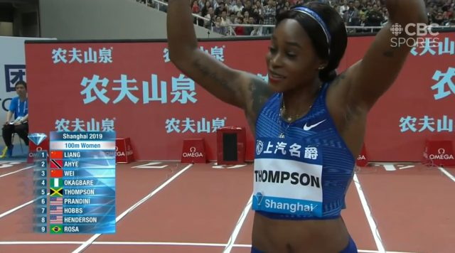 Elaine Thompson runs 11.14 in Shanghai Diamond League 100m