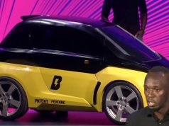 Usain Bolt becomes an investor, unveils small electric Car in Paris