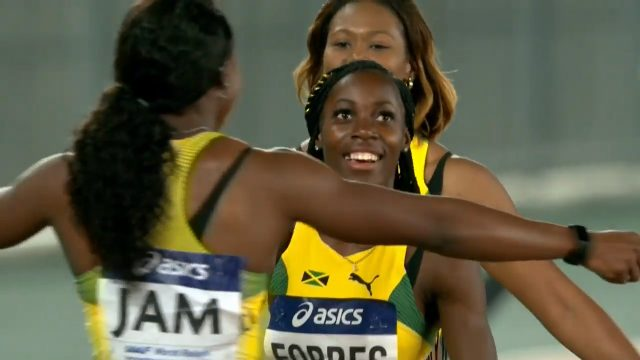 Jamaica wins World Relays' 4x100m silver medal