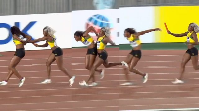 Jamaica finishes 3rd after very poor 4x200m baton exchanges at World Relays